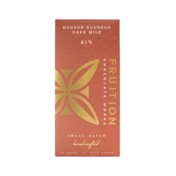 Fruition Chocolate Works Hudson Bourbon Dark Milk 2.12oz. bar