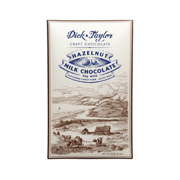 Dick Taylor Hazelnut Milk Chocolate 2oz. bar