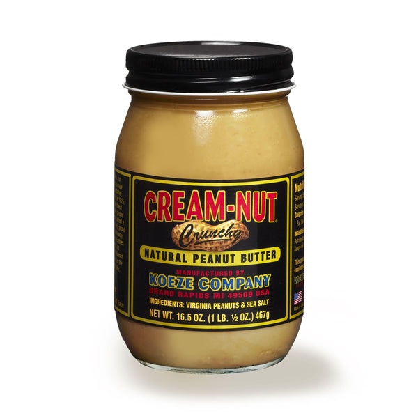 Cream-Nut Crunchy Peanut Butter 17oz. jar