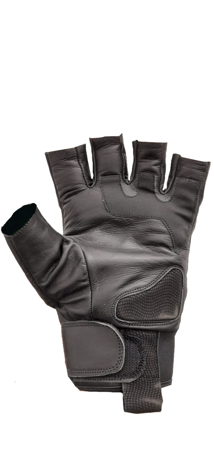 LMC-Tex Leather Half Gloves