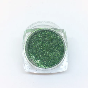 Holographic glitter powder 0.5g - Green