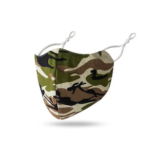 Reusable fabric face mask - Camouflage Print Mask