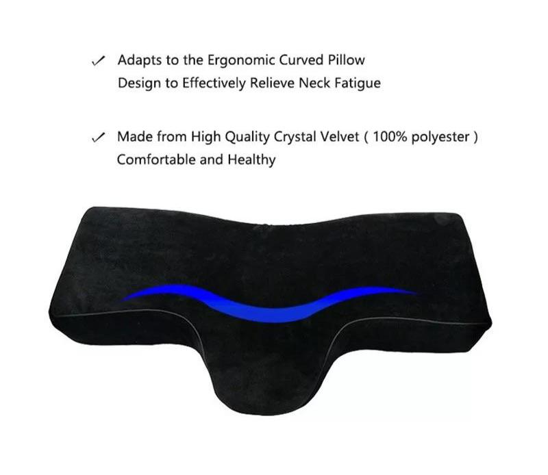 Eyelash Extension Application Pillow - Ergonomic Memory Foam