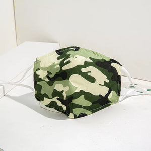 Reusable face mask - Camouflage Green