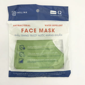 Reusable face mask - water repellent material 3 pack - GREEN