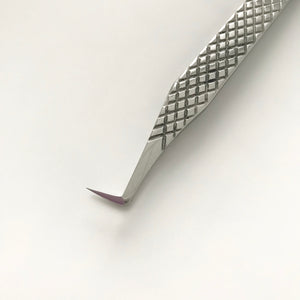L Boot Volume Tweezers - Titanium Silver