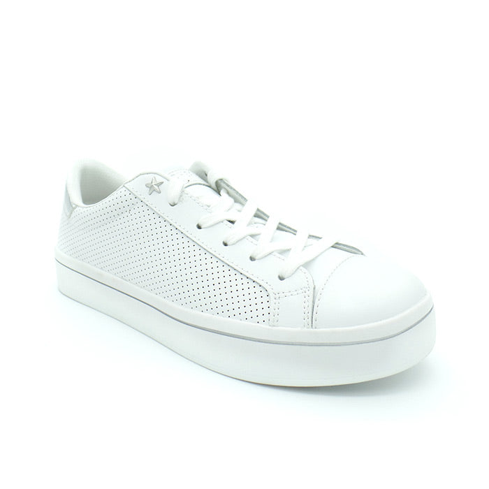 Hi Lites Perfect White Leather Sneakers