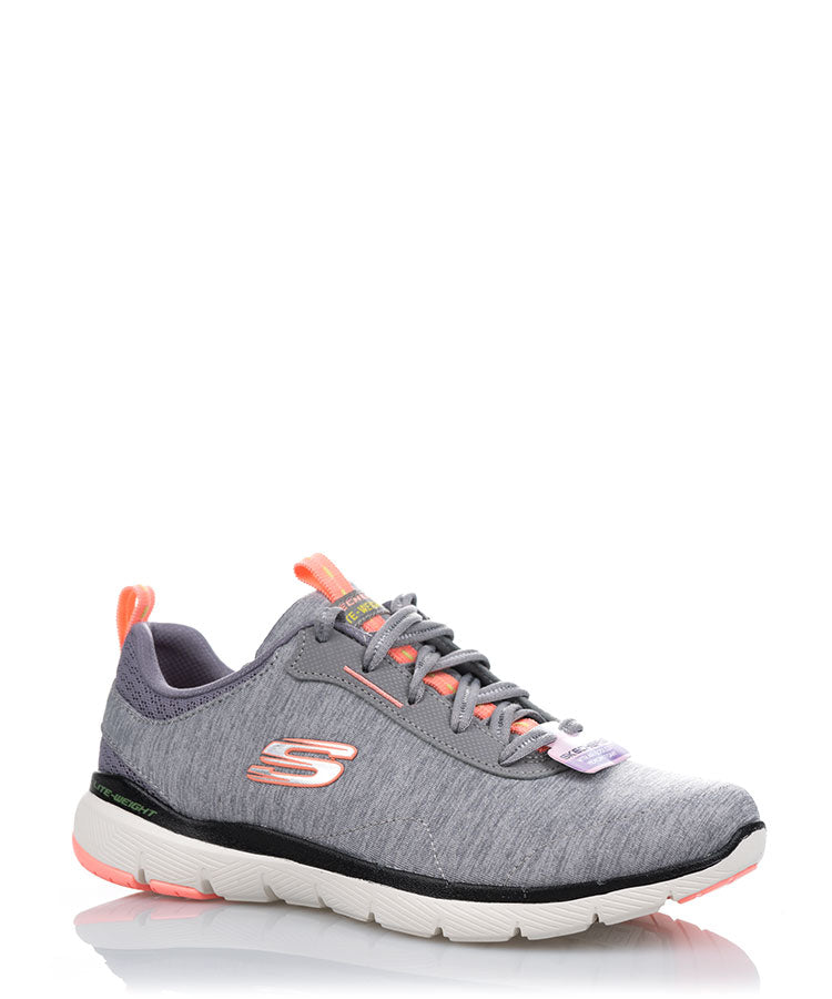 Steady Energy Light Grey Coral Casual