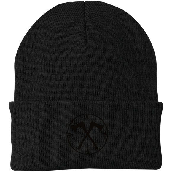 Chopped Life - OG, Knit Cap, Black Stitch