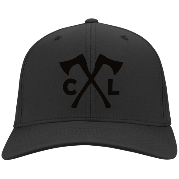 Chopped Life - CL Axes, Flexfit Twill Baseball Cap, Black/Black
