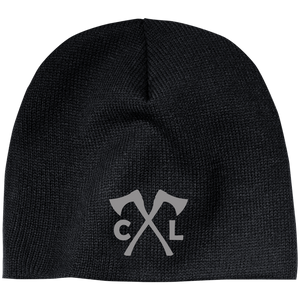 Chopped Life - CL Axes, Beanie, Gray Stitch