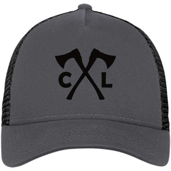 Chopped Life - CL Axes, Snapback Trucker Cap, Gray/Black/Black