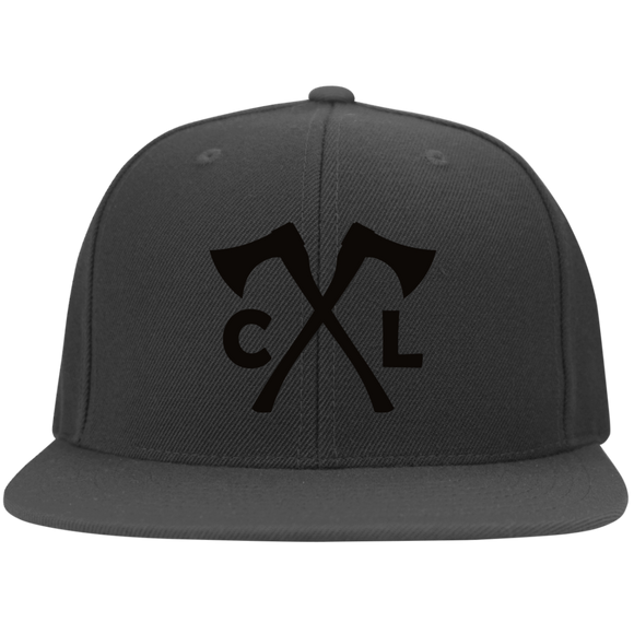 Chopped Life - CL Axes, Flat Bill Flexfit Hat, Dark Gray/Black