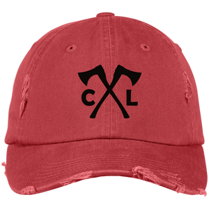 Chopped Life - CL Axes, Distressed Dad Cap, Red/Black