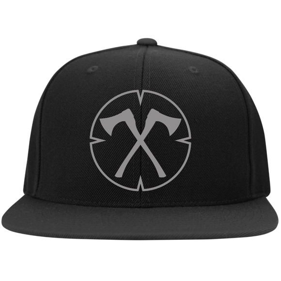 Chopped Life - OG, Flat Bill Snapback Hat, Black/Gray