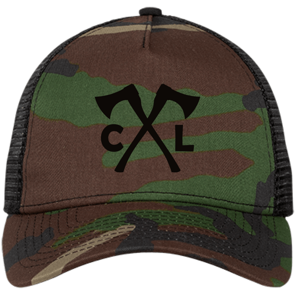 Chopped Life - CL Axes, Snapback Trucker Cap, Camo/Black/Black