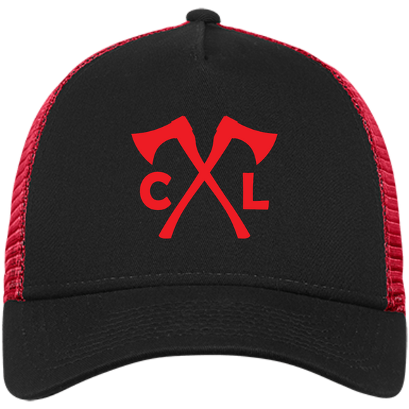 Chopped Life - CL Axes, Snapback Trucker Cap, Black/Red/Red
