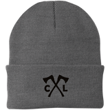 Chopped Life - CJ Axes, Knit Cap, Black Stitch