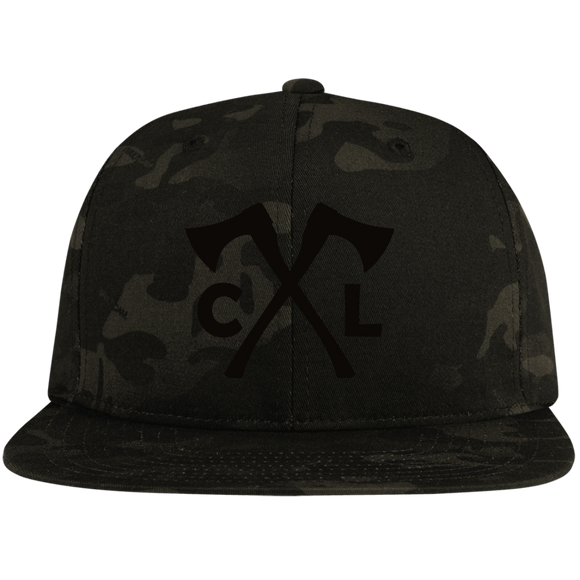 Chopped Life - CL Axes, Flat Bill Snapback Hat, Camo/Black