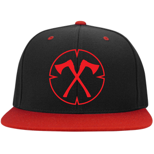 Chopped Life - OG, Flat Bill Snapback Hat, BlackRed/Red