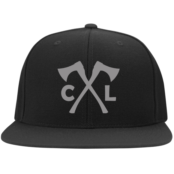 Chopped Life - CL Axes, Flat Bill Flexfit Hat, Black/Gray