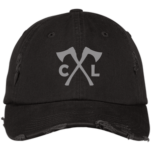 Chopped Life - CL Axes, Distressed Dad Cap, Black/Gray