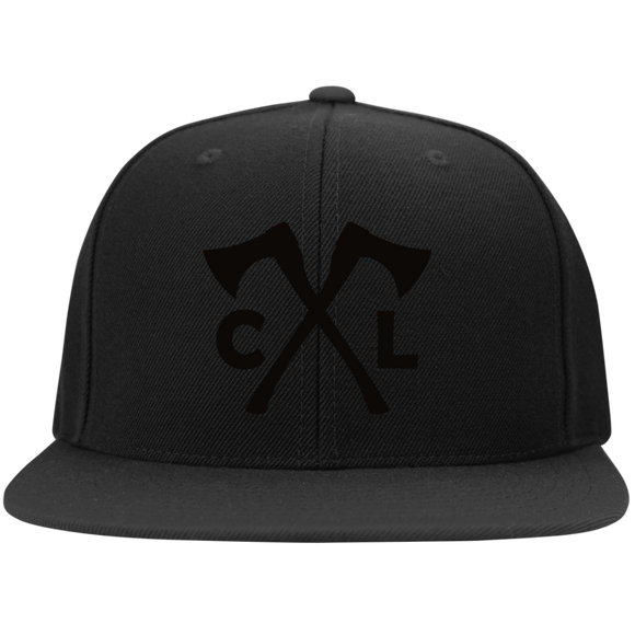 Chopped Life - CL Axes, Flat Bill Snapback Hat, Black/Black