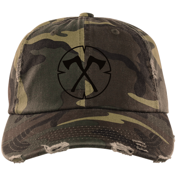Chopped Life - OG, Distressed Dad Cap, Camo/Black