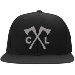 Chopped Life - CL Axes, Flat Bill Snapback Hat, Black/Gray
