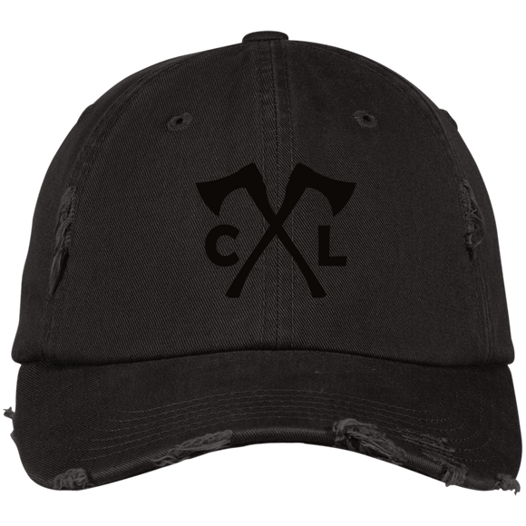 Chopped Life - CL Axes, Distressed Dad Cap, Black/Black