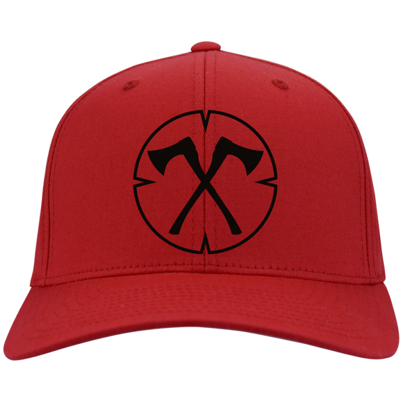 Chopped Life - OG, Flexfit Twill Baseball Cap, Red/Black
