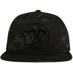 Chopped Life - OG, Flat Bill Snapback Hat, Camo/Black