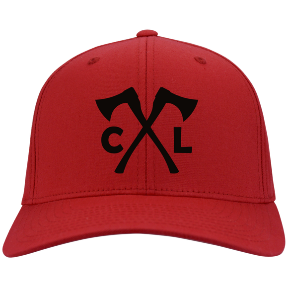 Chopped Life - CL Axes, Flexfit Twill Baseball Cap, Red/Black