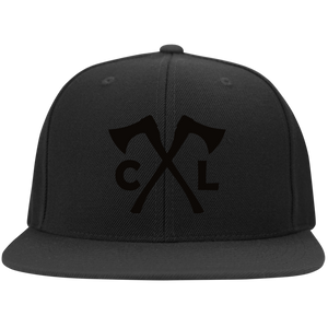 Chopped Life - CL Axes, Flat Bill Flexfit Hat, Black/Black