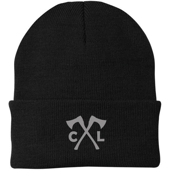 Chopped Life - CJ Axes, Knit Cap, Gray Stitch