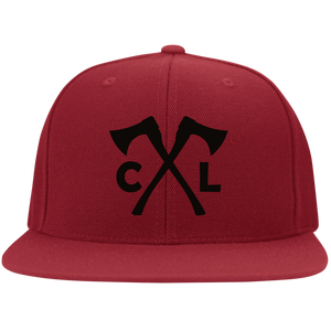 Chopped Life - CL Axes, Flat Bill Flexfit Hat, Red/Black