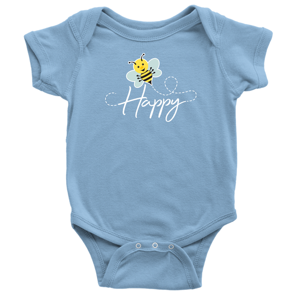 ADH - Bee Happy, Baby Bodysuit