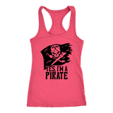 CL - Pirate, Ladies Racerback Tank