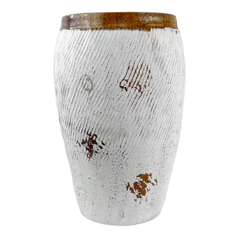 Load image into Gallery viewer, White Finish Rice Jar.