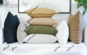 Black Linen 20 X 20 Flange Pillow