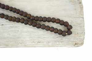 Recycled Glass Beads - Brown.