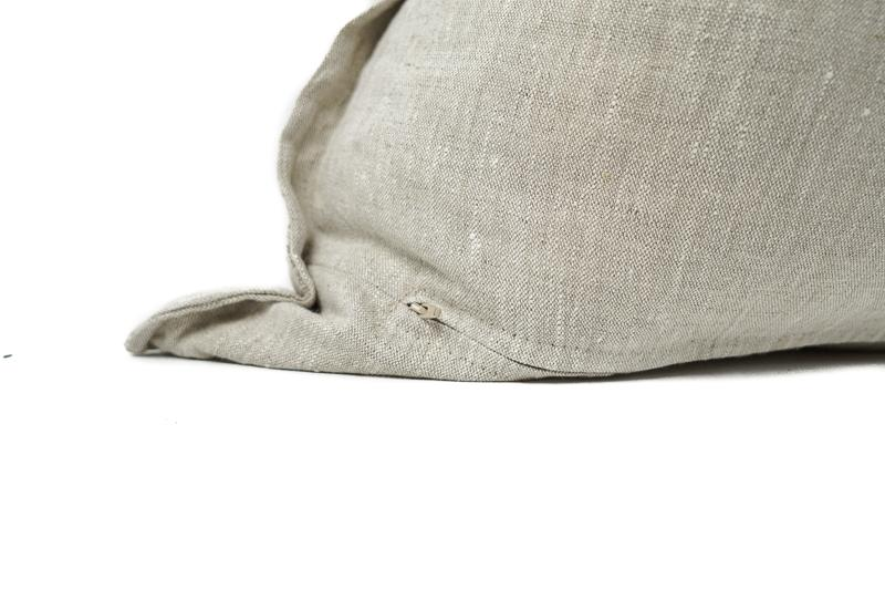 Load image into Gallery viewer, Oatmeal Flange Linen Euro Pillow