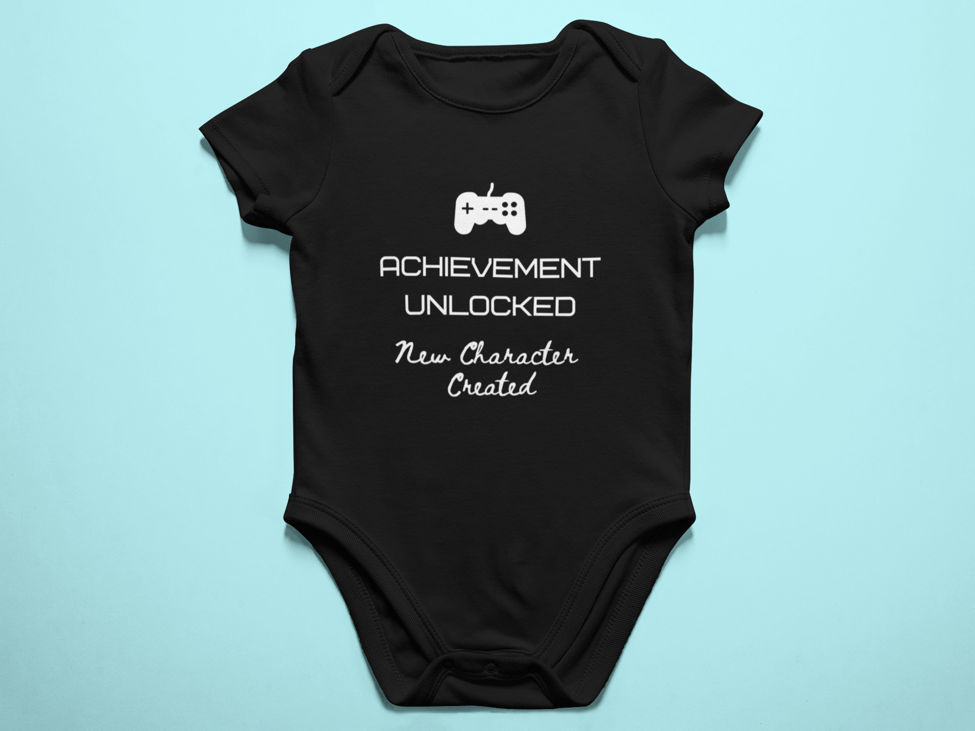Achievement Unlocked New Character Created Baby Romper
