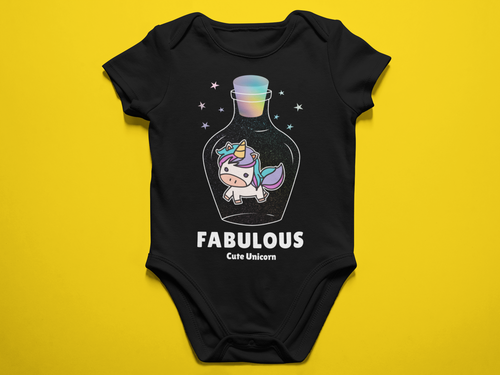Fabulous Cute Unicorn Baby Romper
