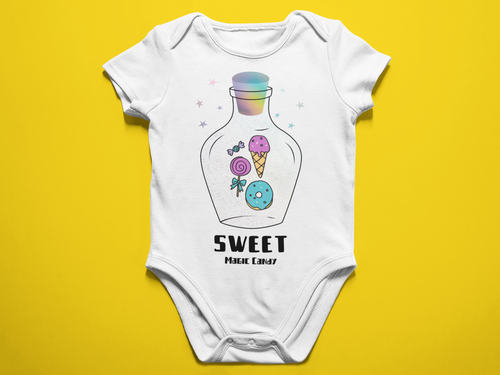 Sweet Magic Candy Baby Romper