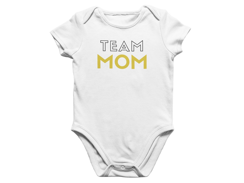 Team Mom Baby Romper