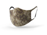 Pixilish Camo Brown Mask
