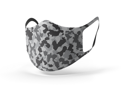 Pixilish Camo White Mask