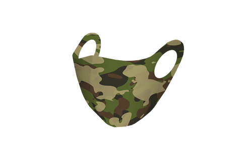 Pixilish Green Army Mask