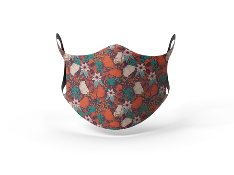 Pixilish Red Forest Mask
